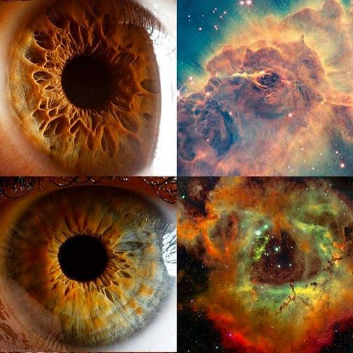Eyes and Nebulas. Windows to our Soul. p2  What Nebula matches your Eyes? Tag a friend to share!  #insprme #inspire #inspiration #stars #cosmos #soul #stardust #wearestardust #hubble #science #universe #galaxy #beauty #astronomy #neildegrassetyson #thecosmos by insprme