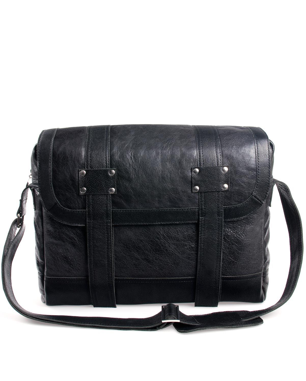 Stoere werktas, met moderne uitstraling. Deze messenger bag is uitgevoerd in echt leer, is hip en praktisch en ideaal als notebook- en laptoptas. Draag hem lekker cross-over.