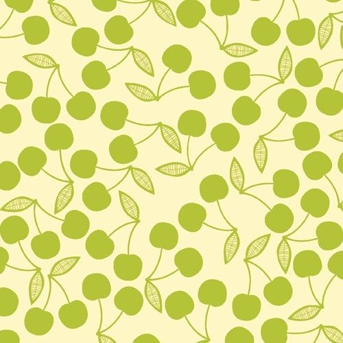 Early Bird By Cosmo Cricket Green Cherry Fabric By The Yard Etsy Green Cherries Andover Fabrics Fabric