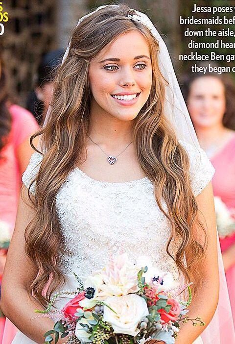 Jessa Duggar Long Healthy Hair Duggar Wedding Jessa Duggar Wedding Duggar Girls