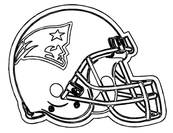 Football Helmet Patriots New England Coloring Page Football