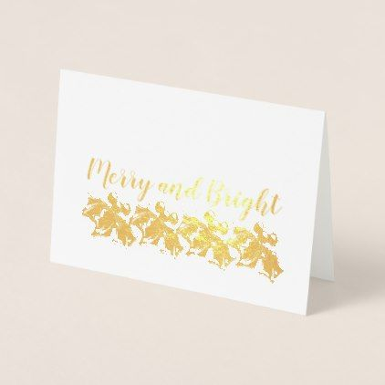 Holly Lane  Merry And Bright Foil Card  Christmas Cards Merry