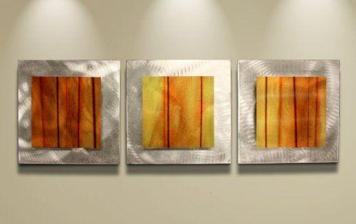 Orange Wall Art \u0027Autumn Essence\u0027 - 38x12 in - Orange/Yellow Color