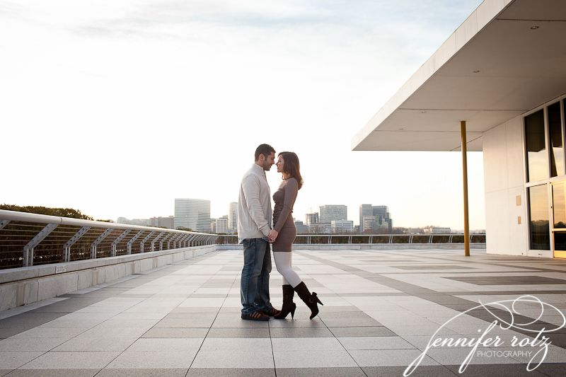 Engagement photo in Washington D.C. (The Kennedy Center)