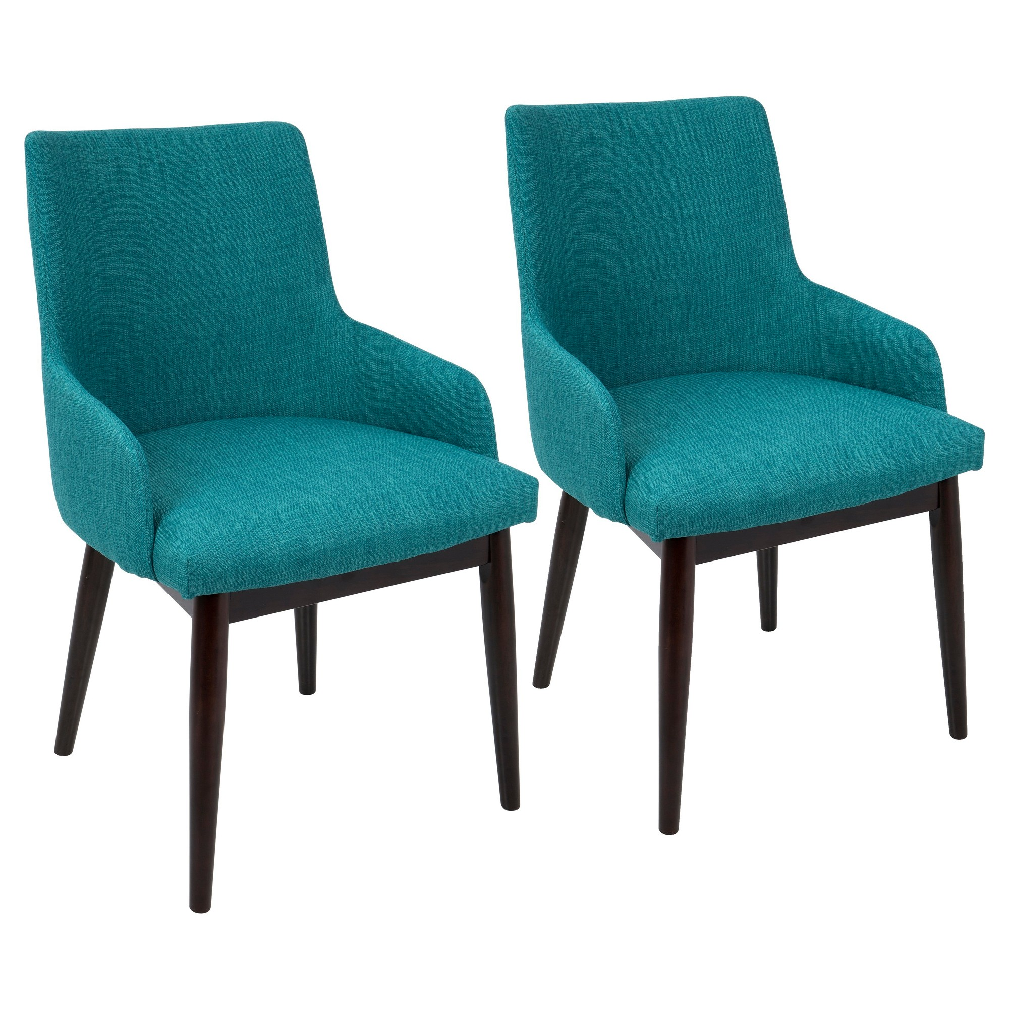Best Santiago Mid Century Modern Dining Accent Chair Teal 400 x 300