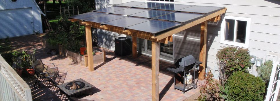 Hmmm...something For Mike To Think About. Solar Panels As Patio Roof |  Creative Solar Panels | Pinterest | Aurinkoenergia Ja Patiot