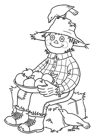 coloring pages of scarecrows - photo#16