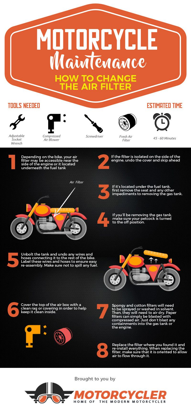 How to Change Your Motorcycle Air Filter [Infographic