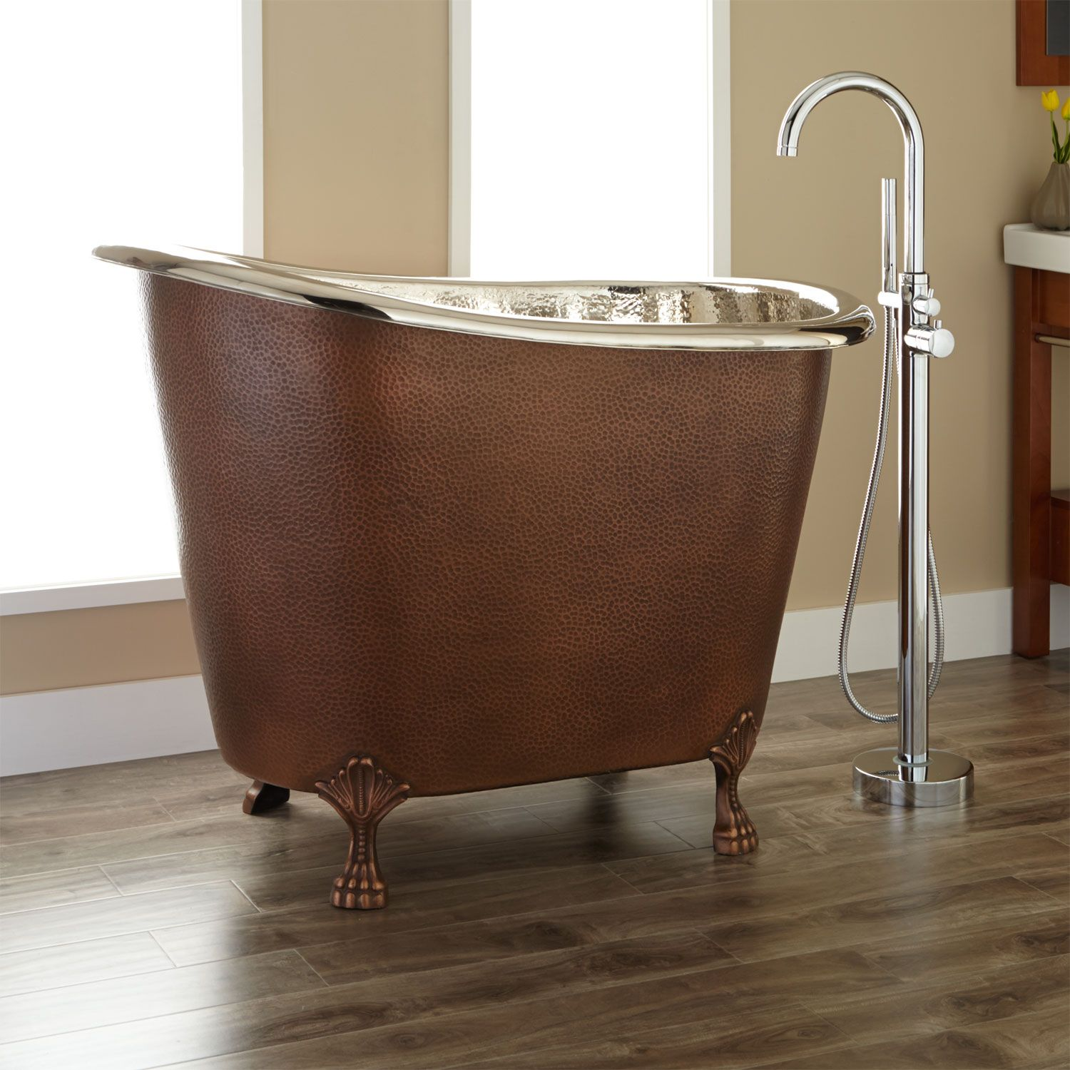 48 Abbey Copper Double Slipper Clawfoot Soaking Tub With Images