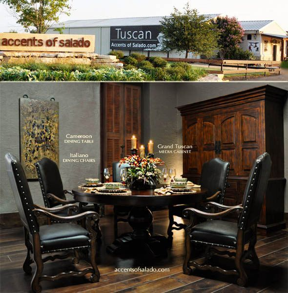 Intimate Dining ~ Tuscan Style Accents of Salado Furniture Store