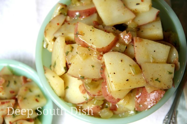 Deep south german style potato salad potato salad bacon