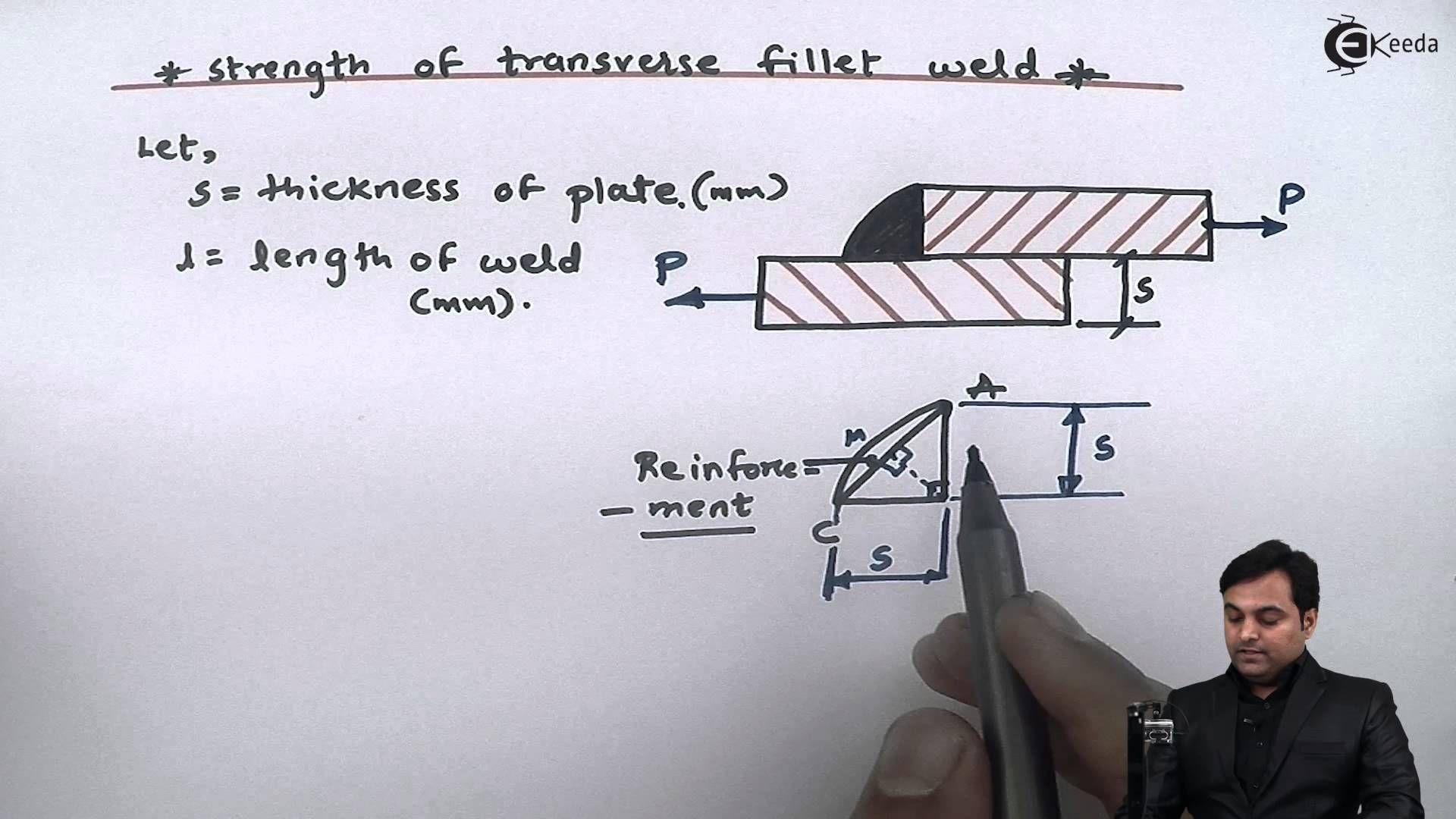 Learn Strength of transverse fillet-weld Video Tutorials Online