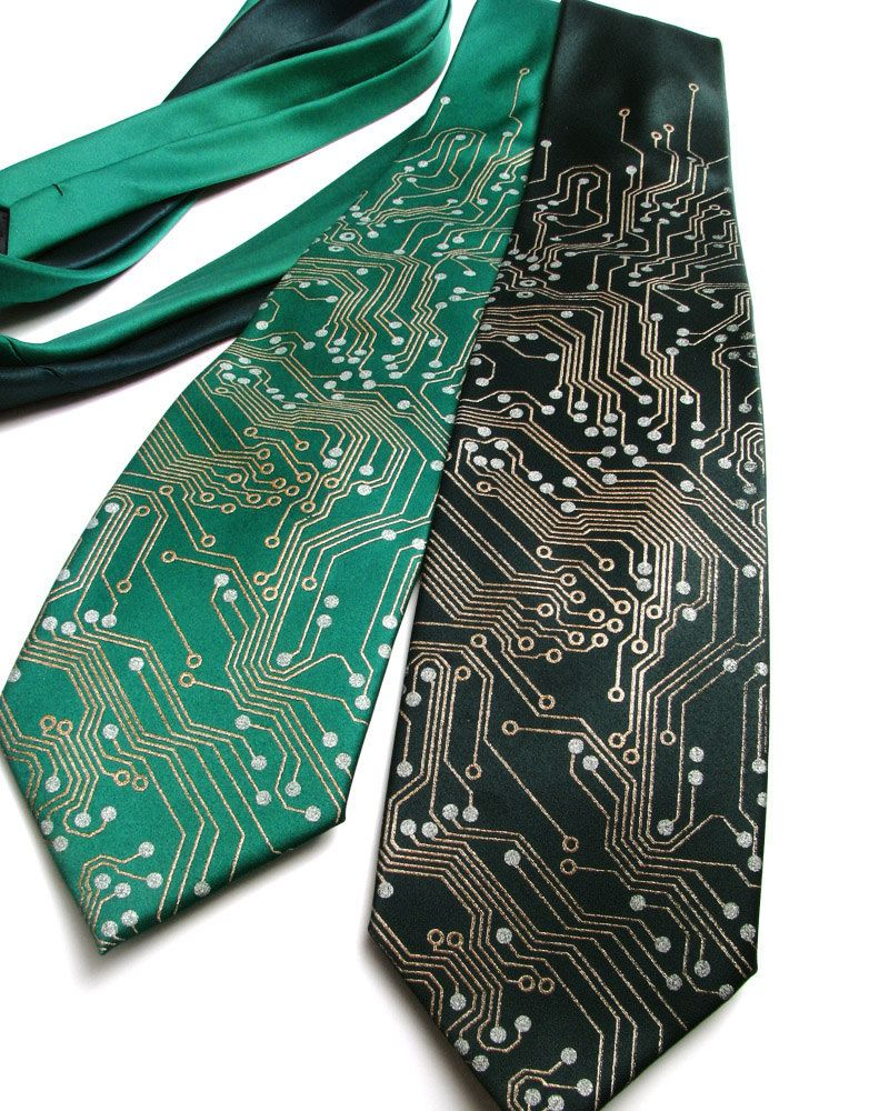 circuit board tie silk tie geek gift silk necktie men\u0027scircuit board computer men\u0027s silk tie metallic copper and silver ink on black silk tie (39 00 usd) by scatterbrainties