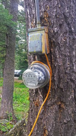 Electrical hookup for campers