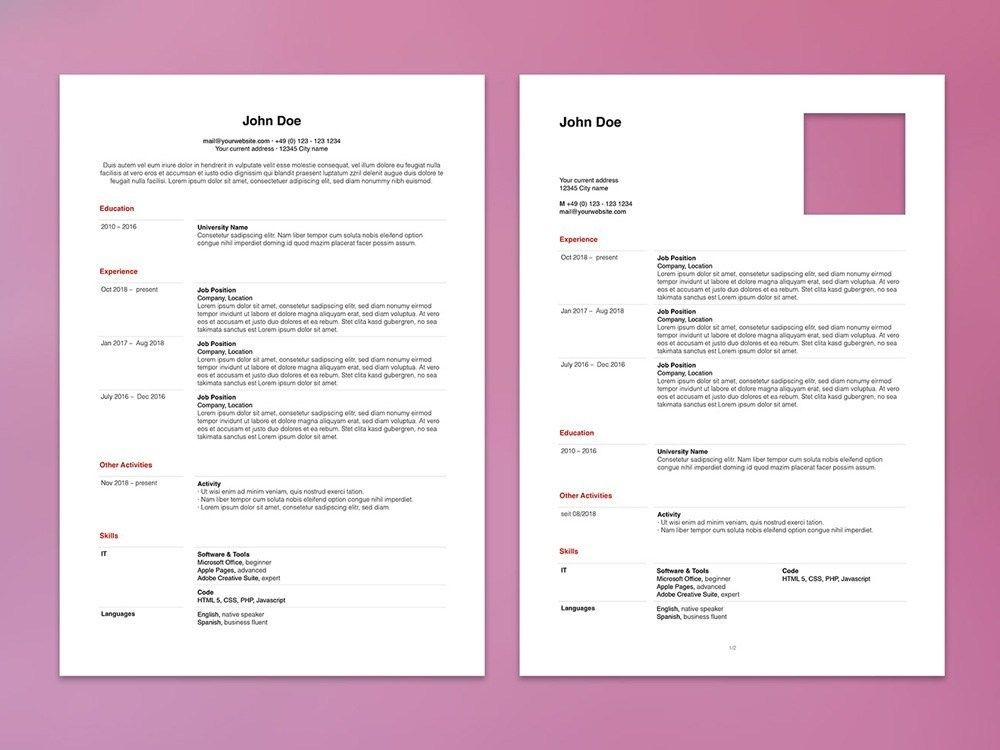 Free Apple Pages Resume Template Resume Template Resume Design Template Resume Design Free