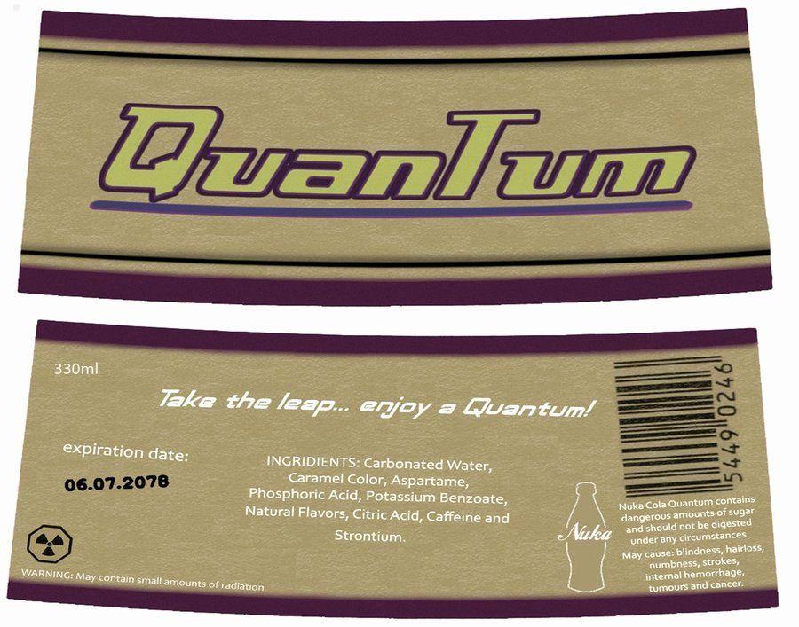 Nuka Cola Quantum Label Template New Nuka Cola Quantum Tutorial With Internal Lighting No Nuka Cola Quantum Labels Label Templates