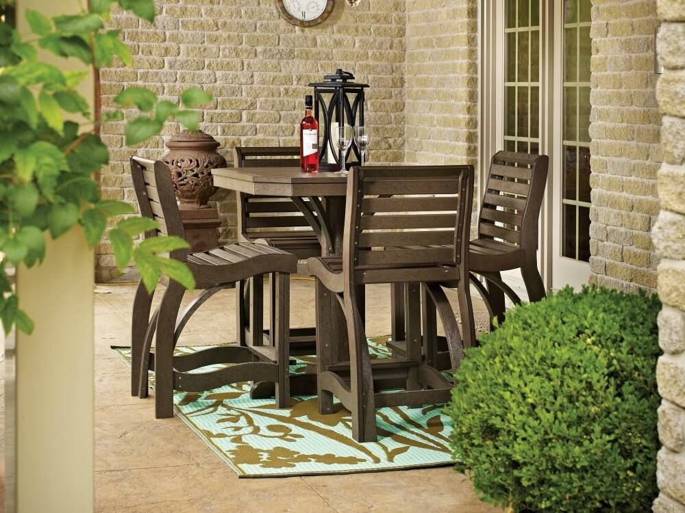 Superieur Traditional Natural Wood Small Patio Dining Table For 4 People
