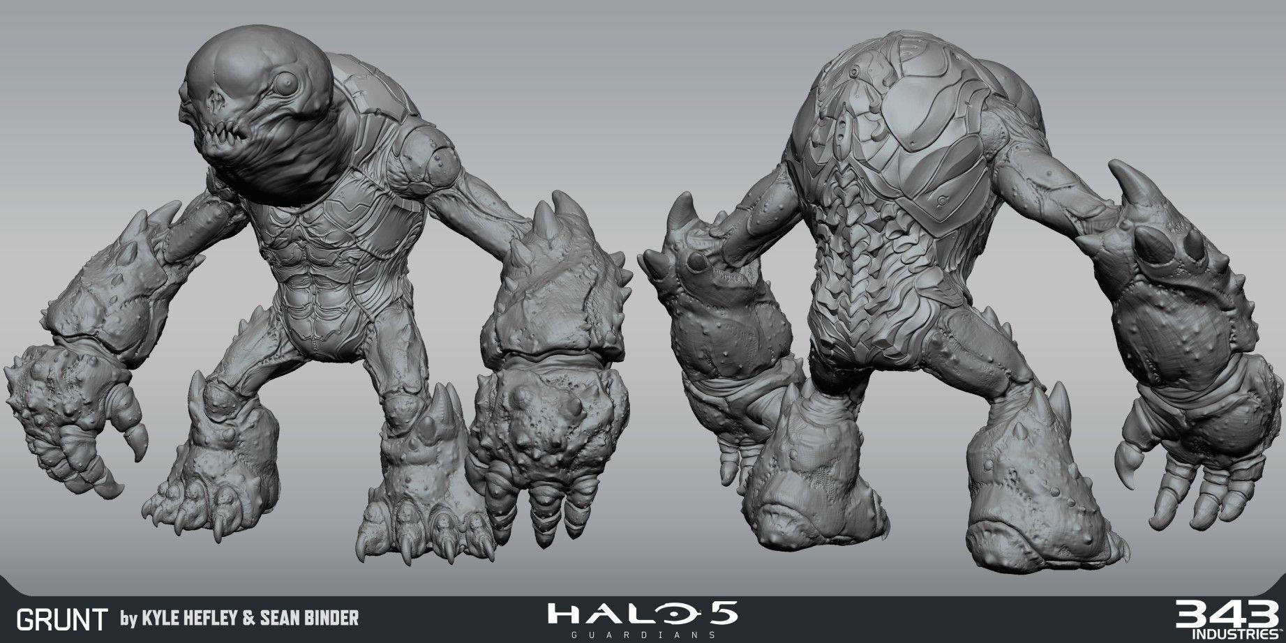 ArtStation Halo 5 Grunt, Kyle Hefley (con imágenes)