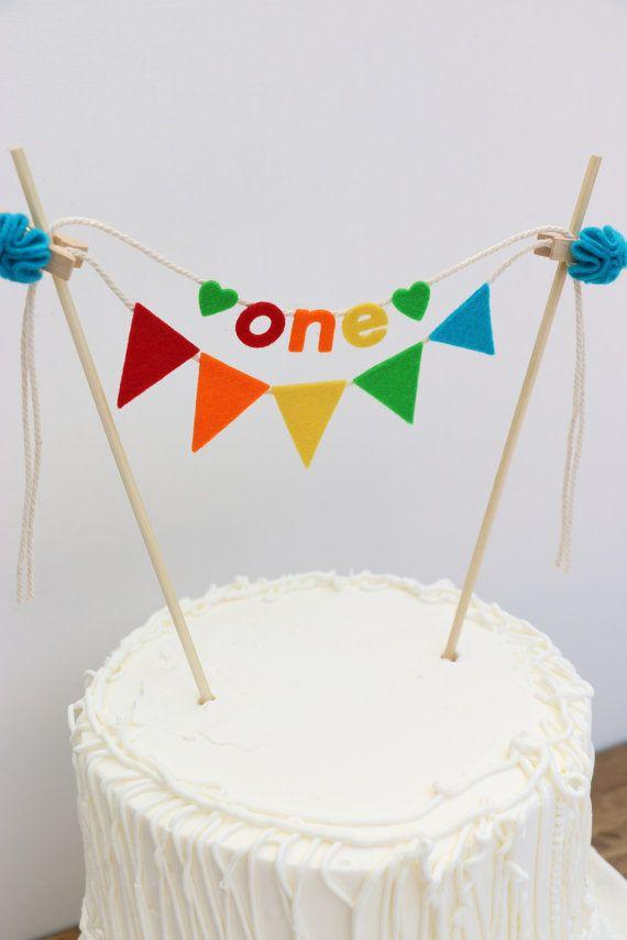 First Birthday Cake Banner Birthday Cake By Pipsqueakandbean Maybe