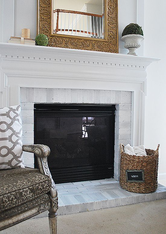 how to paint your brick fireplace surround fireplace brick bricks and brick fireplace. Black Bedroom Furniture Sets. Home Design Ideas