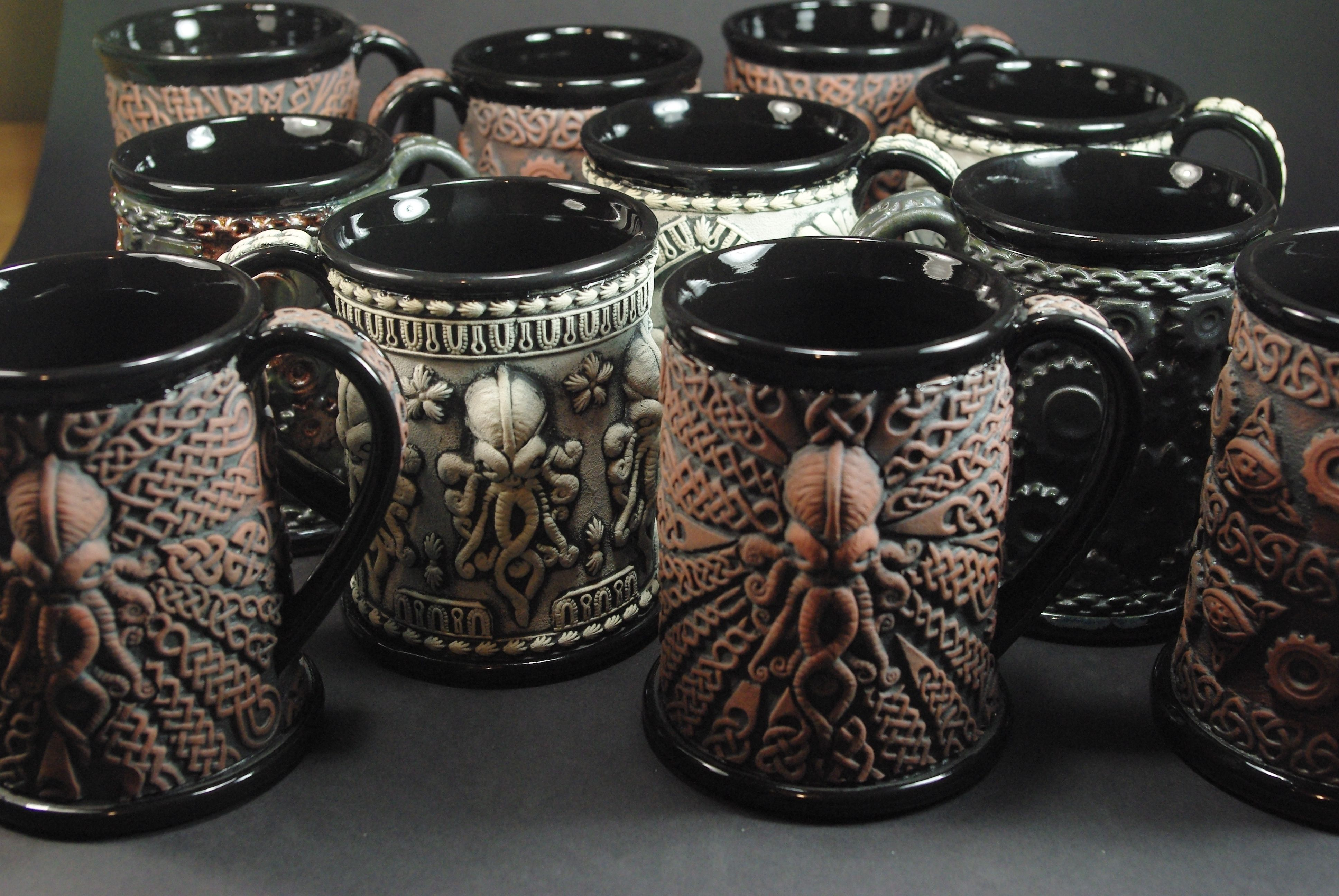 Some Of My Limited And Open Edition Beer Steins Andrew Tarrant Trespasser Ceramics Beer Steins Steins Ceramics