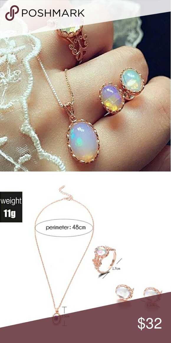 Photo of Vintage Opal Water Drop Jewelry Set – Discovered while shopping on Poshmark: V …