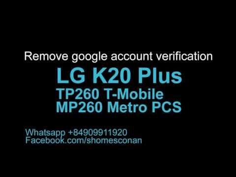 Bypass frp lock google account LG K20 Plus TP260 MP260 | Google