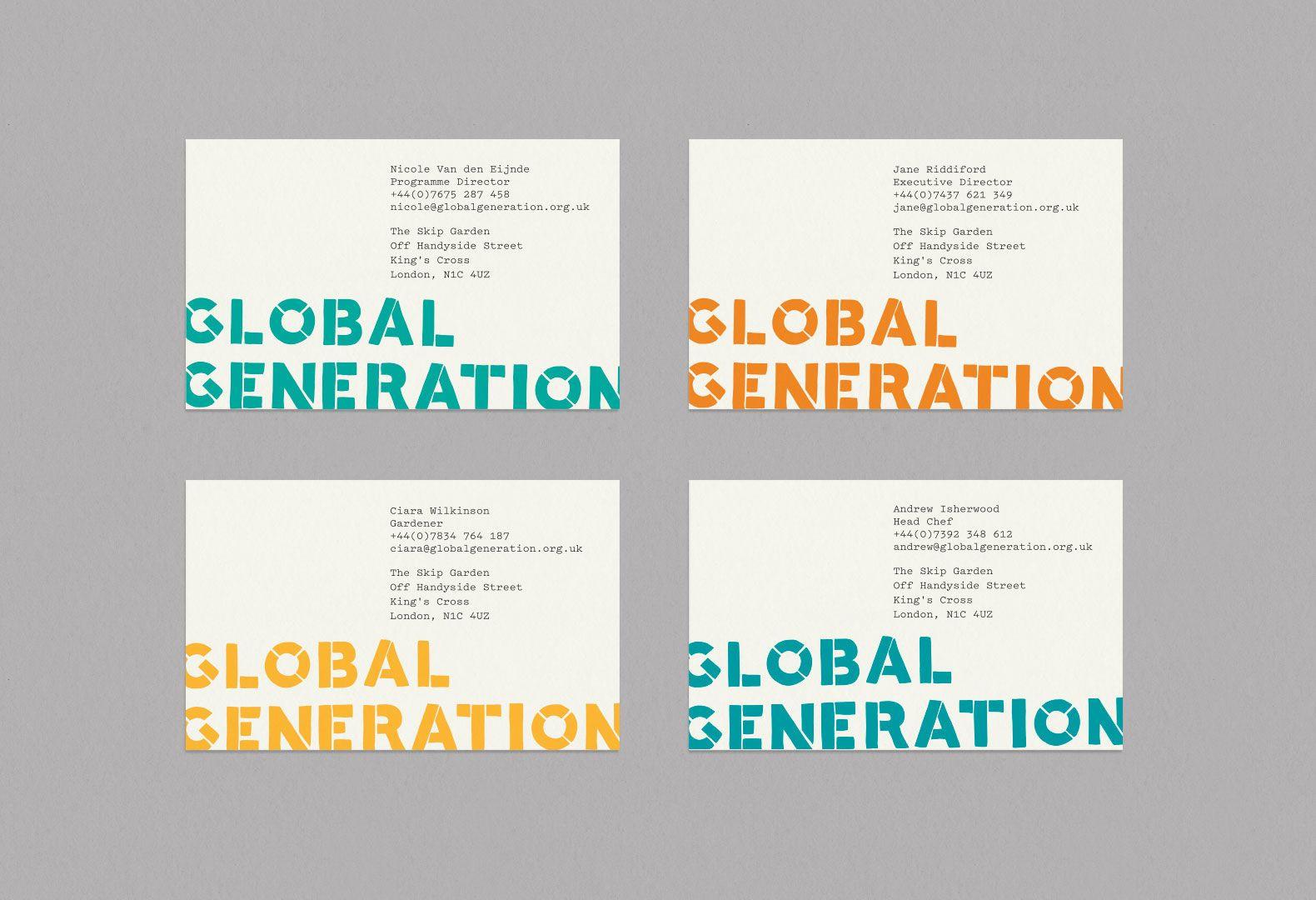 Global Generation Fieldwork Graphic Pinterest Business Cards