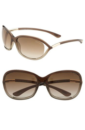 f38eebc68f6 Free shipping and returns on Tom Ford  Jennifer  61mm Oval Frame Sunglasses  at Nordstrom.com. Open temples with metal details style resin frames.