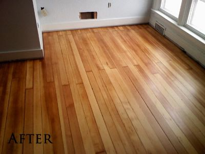 A Beautifully Refinished Douglas Fir Floor In Iowa City