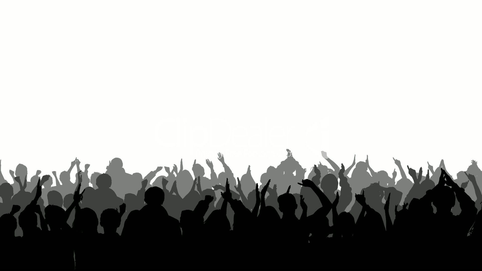 silhouettes | Cheering Crowd Silhouettes 2: Royalty-free video and stock footage
