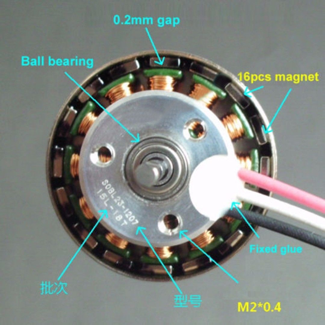 Dc 5v 12v 16 Pole 3 Phase Brushless Motor External Rotor For Car 48v Electric Bicycle Bldc From Reliable