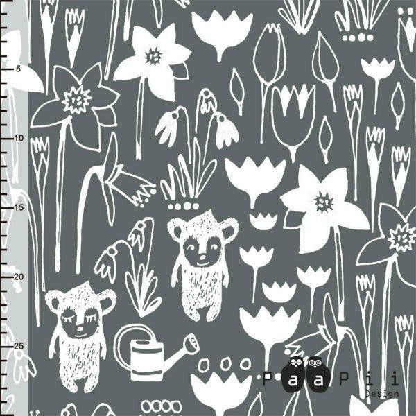 tissus bio jersey coton paapii design hippus garden