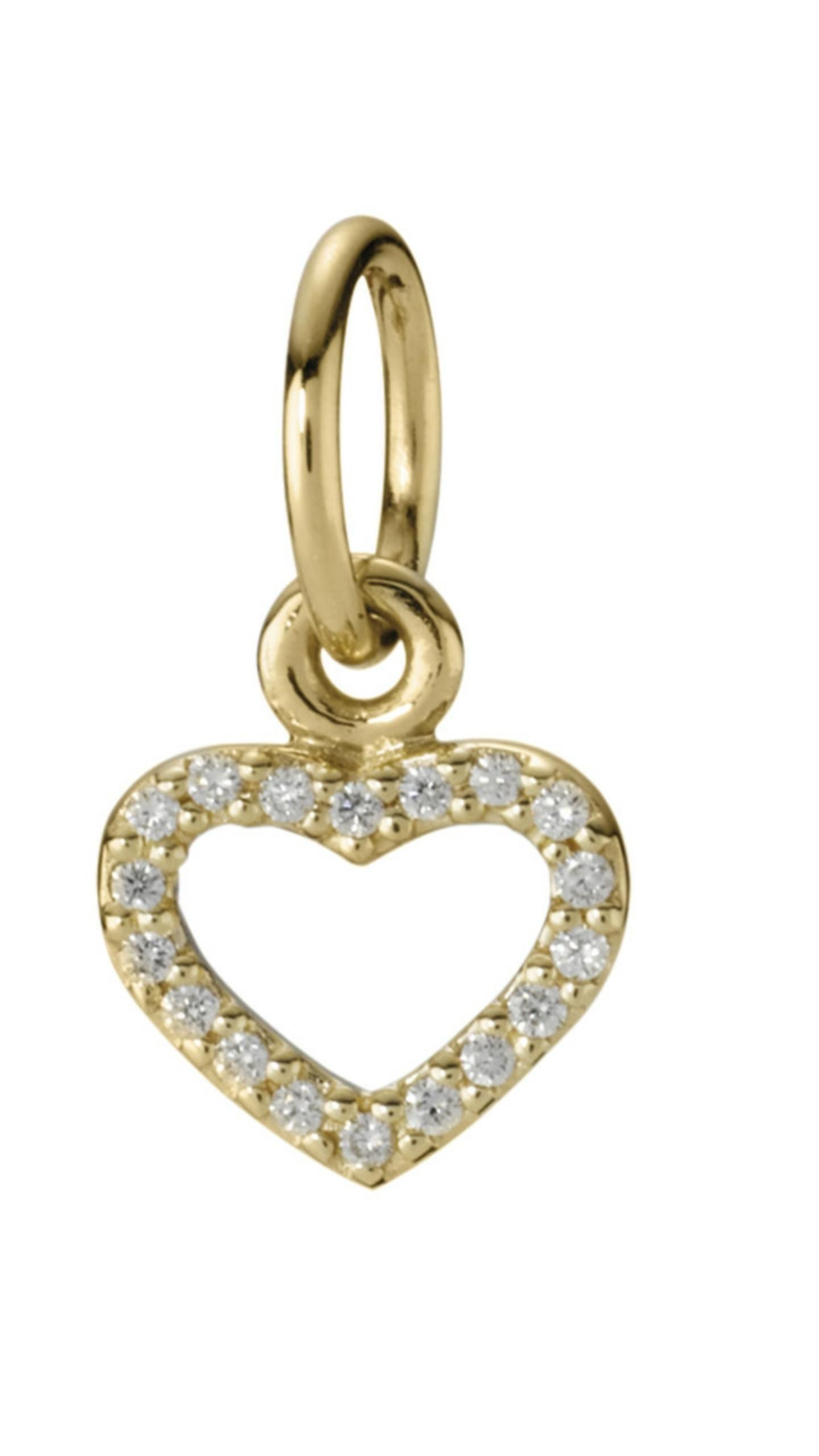 acd1677af Free shipping and guaranteed authenticity on Pandora Be My Valentine  14kGold Diamond Heart Charm 350136D Retired at Tradesy.