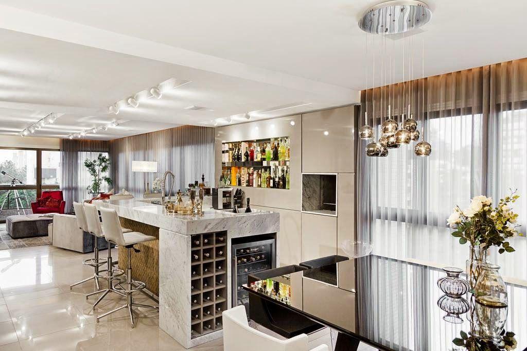 Cozinhas Com Adega E Bar Integrados Veja Modelos Lindos Dicas