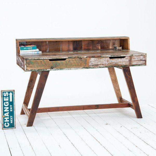 Back To School Reclaimed Wood Writing Desk