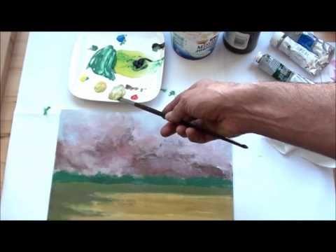 Tricks Fur Die Acrylmalerei 3 Pinseleinsatz Youtube