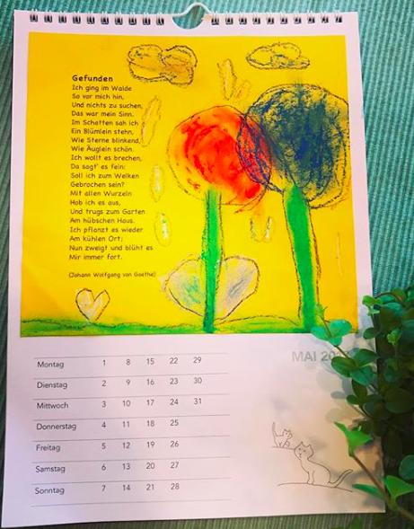 Kalenderblatt Mai Gedicht Gefunden Mit ölkreiden