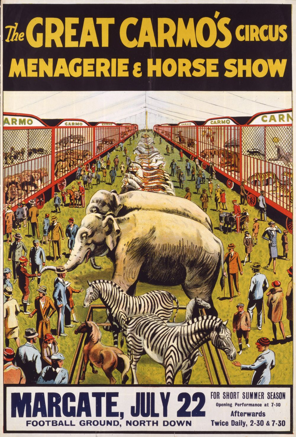 The Great Carmo's Circus Menagerie & Horse Show (V)