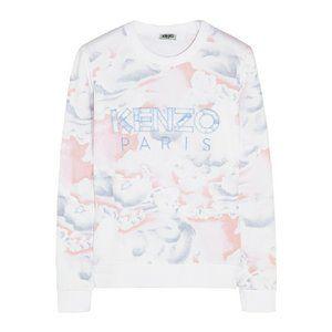 2f757076 Cloud-print Cotton-jersey Sweatshirt - Lyst Kenzo Sweater, Embroidered  Sweatshirts, Pant