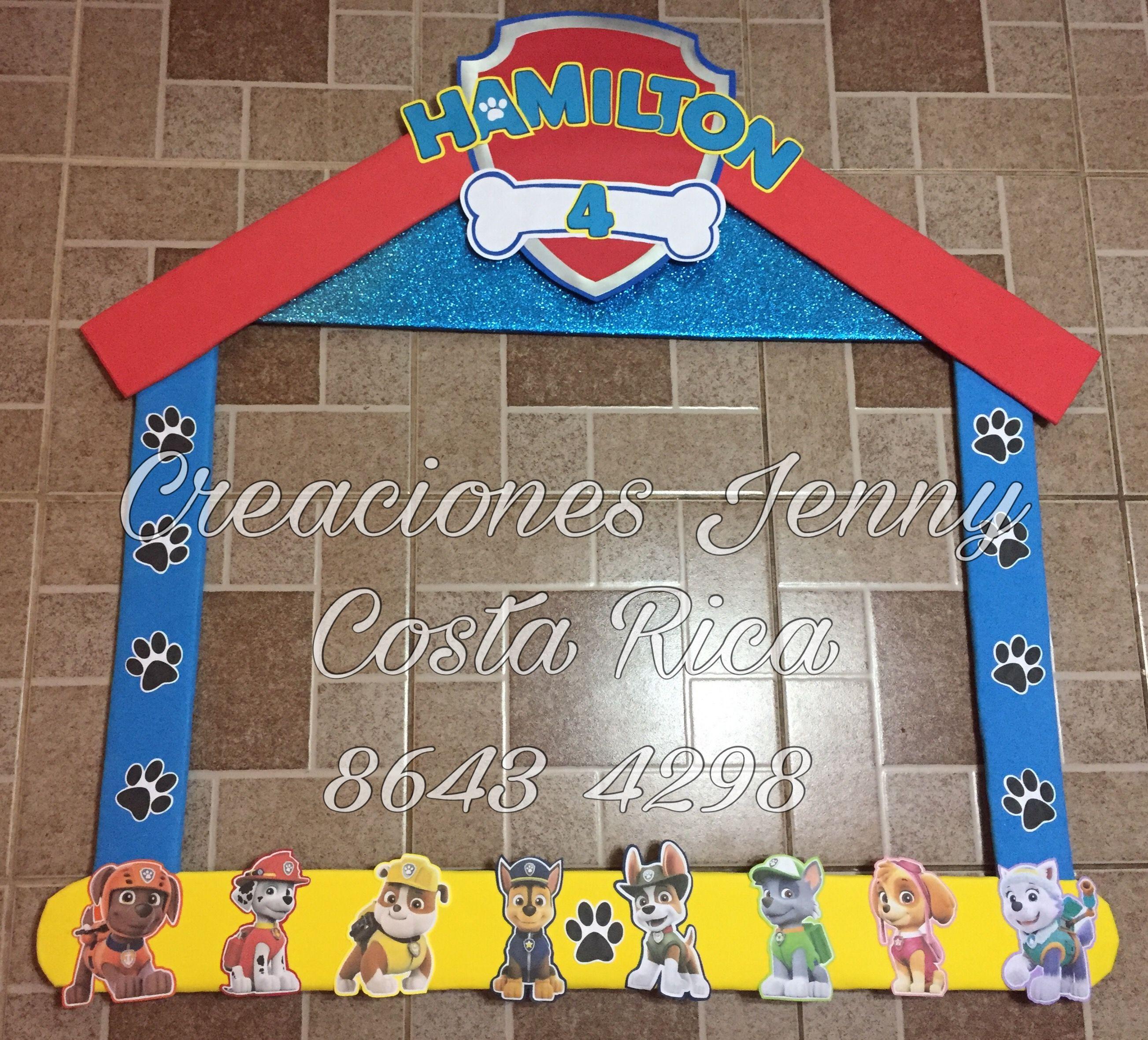 Paw patrol Marco para fotos #Creaciones Jenny - Costa Rica ...