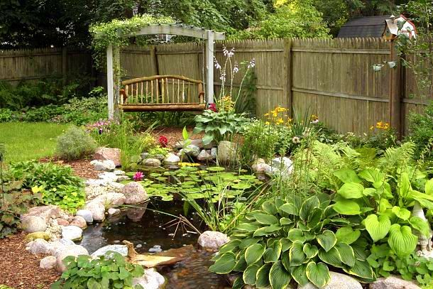 15 Super Creative Outdoor Sitting Areas And How To Make Your Own Funky Junk Interiors Backyard Sitting Areas Small Backyard Gardens Water Garden
