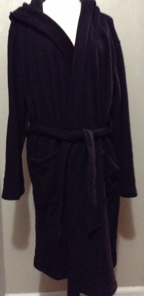 Savile Row Co London purple label Black Hooded Robe House Coat ...