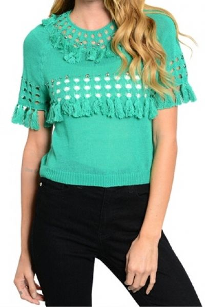 """*** New Style *** 126-3-4-T2248SW GREEN SWEATER 3-3 MADE IN CHINA Fabric Content: 100% COTTON Size Scale: S/M-M/L Size Ratio: Bundle Ratio: 3-3 Description: B: 17"""" W: 19"""" L: 18"""" Product Code: GT194392"""