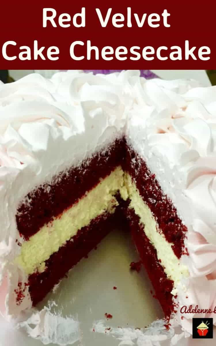 RED VELVET CAKE CHEESECAKE. It's a BIG WOW! Lovely vanilla cheesecake sandwiched between soft red velvet cakes and then topped with a light, fluffy puffy whipped cream frosting. It really is a WOW! -   21 cake Carrot red velvet ideas
