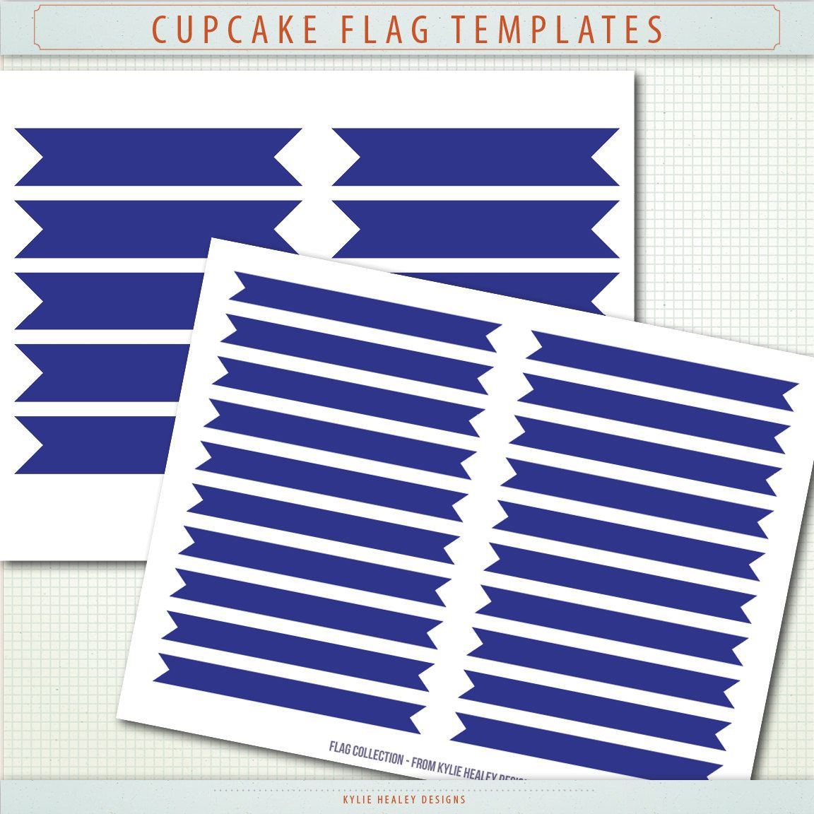 Cupcake Flag Template - Layered Photoshop PSD template - PClip Art ClipArt Scrapbooking CU OK  Instant Digital Download & Printable. $2.50, via Etsy.