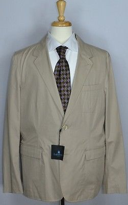 Lanvin Mens Recent Cotton Surgeons Cuffs 2-BTN Sportcoat Blazer Jacket Sz 44 NEW