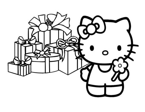 Christmas Presents Coloring Pages Of Christmas Presents Coloring Page Downlo Hello Kitty Coloring Hello Kitty Colouring Pages Happy Birthday Coloring Pages