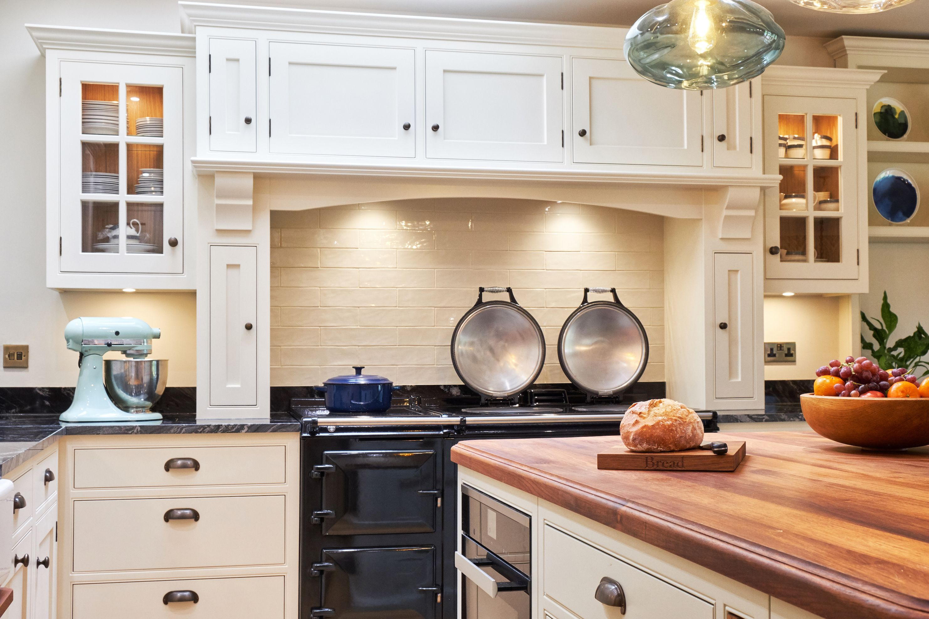 Bespoke Kitchen Farrow Ball Clunch Aga Shaker Interior Design