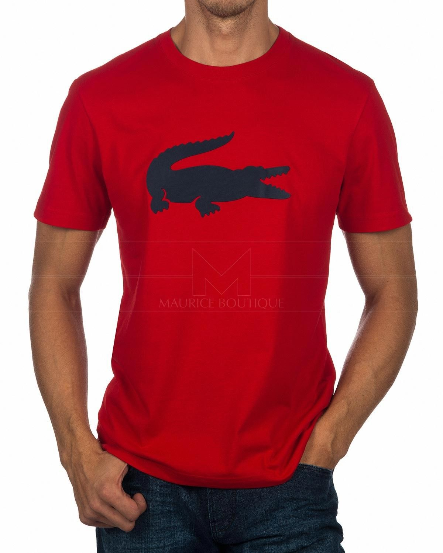 00d05ce77bd80 Camiseta Lacoste Roja - Rubber logo in 2019